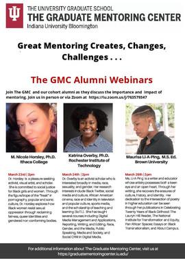 Indiana University Bloomington Graduate Mentoring Center Webinar