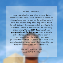 Thank you for all of your support, please stay tuned for more information.