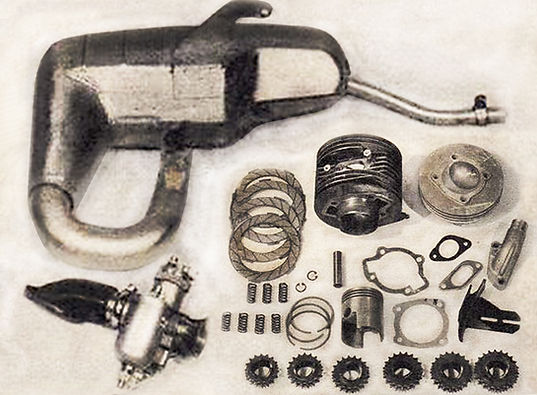 Kit Elaborazioni Ancillotti componenti marmitta frizione testata pignoni scarico record del mondo Monza Elvington