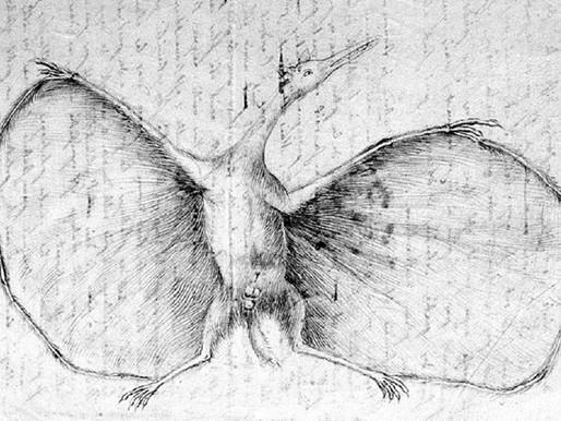 Bir pterodactylus olarak Jules Verne
