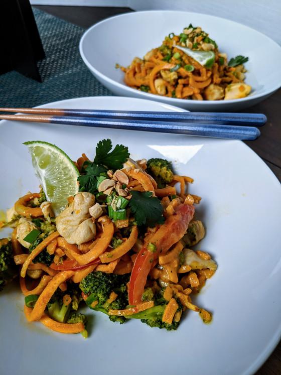 Sweet Potato Pad Thai