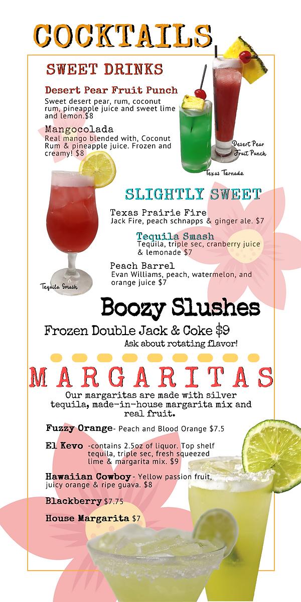 Cocktail Menu 1