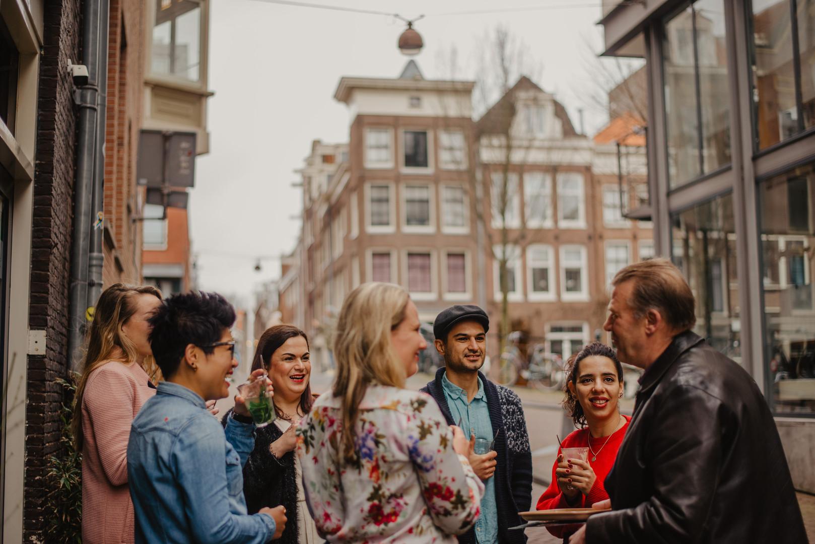 Meeting Ludo, a cannabis shop owner, in De Jordaan neighbourhood