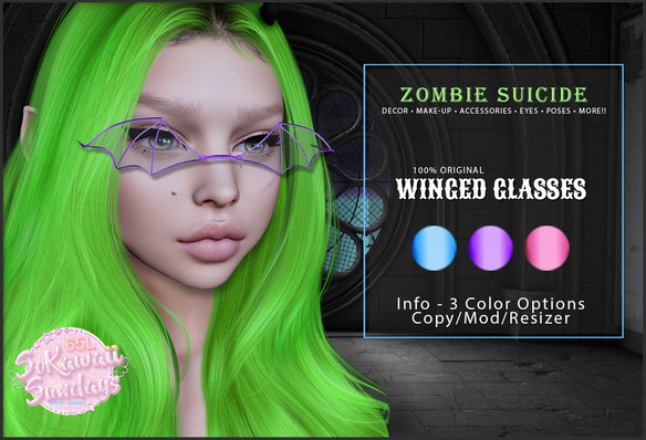 Zombie Suicide - Winged Glasses