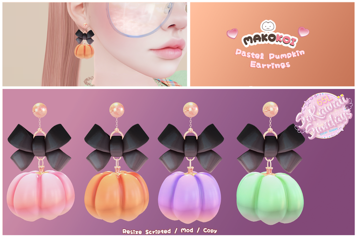 Makokoi - Pastel Pumpkin Earrings