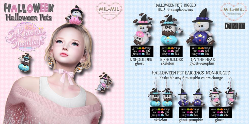 MiL*MiL - Halloween Pets & Earrings