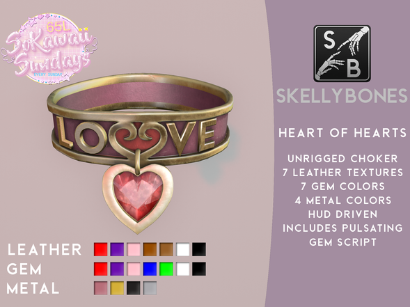 Skellybones - Heart Of Hearts Choker