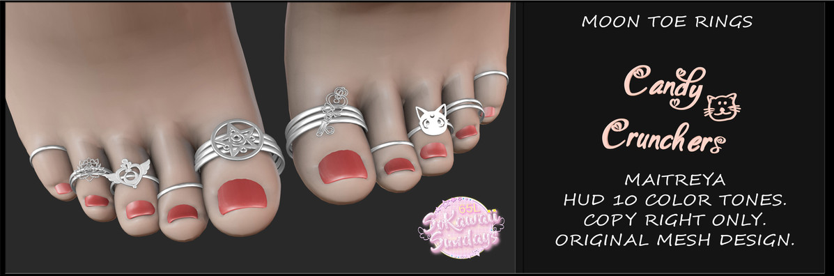 Candy Crunchers - Moon Toe Rings