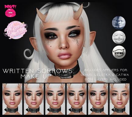 [POUT!] - Written Sorrows Makeup