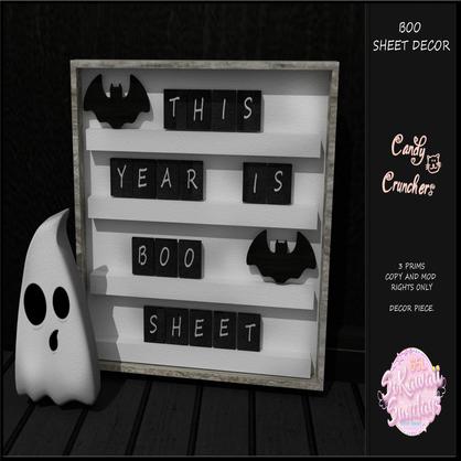 Candy Crunchers - Boo Sheet Decor