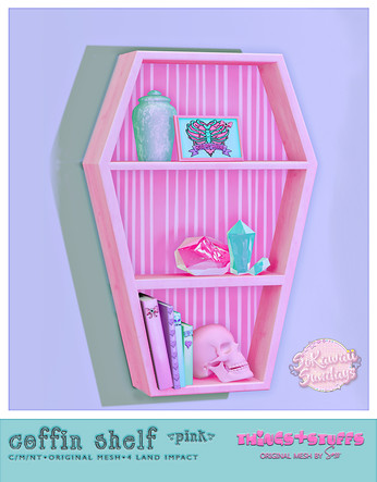 Things&Stuffs - Coffin Shelf Pink