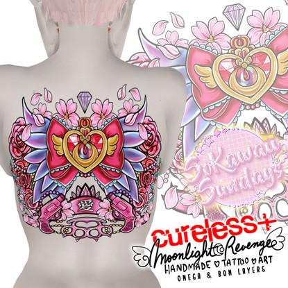 CURELESS[+]  Moonlight Revenge Back Tattoo