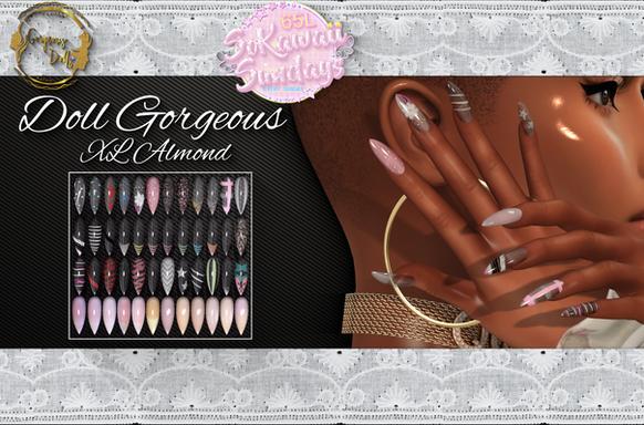 Gorgeous Dolls - Doll Gorgeous XL Almond Nails