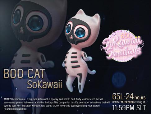 Moon Rabbit - Boo Cat SoKawaii Animesh Companion