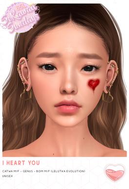 Palette - I Heart You Face Scar