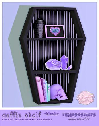 Things& Stuffs - Coffin Shelf Black