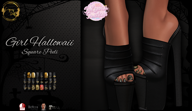 Gorgeous Dolls - Girl Hallowaii Square Pedicure