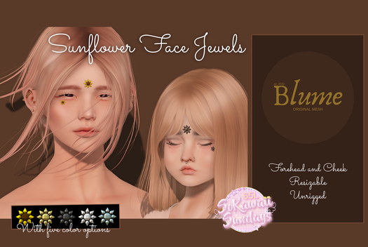 Blume - Sunflower Forehead & Face Jewels