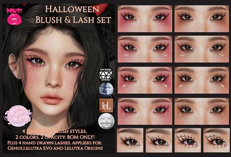 [POUT!] - Halloween Blush & Lash Set