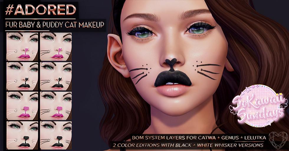 #ADORED - Fur Baby & Puddy Cat Makeup