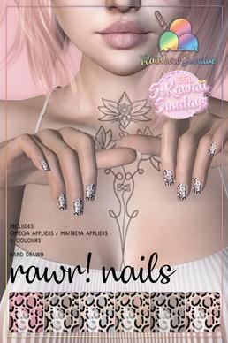 Rainbow Sundae - Rawr Nail Appliers