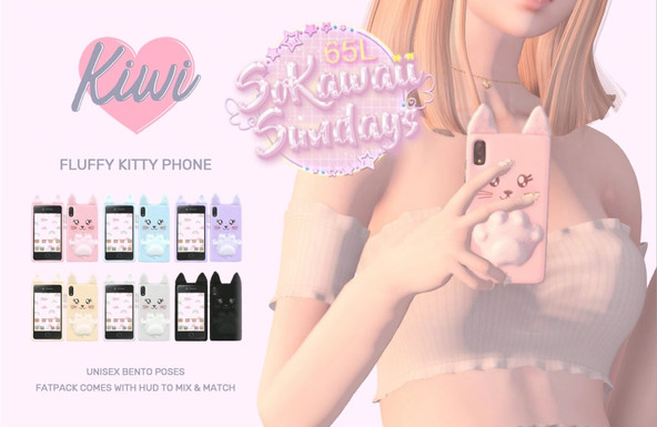 Kiwi Fluffy Kitty Phone