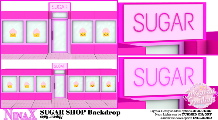 NinaX - Sugar Shop Backdrop