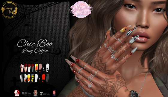 Gorgeous Dolls - Chic Boo Long Coffin Nails