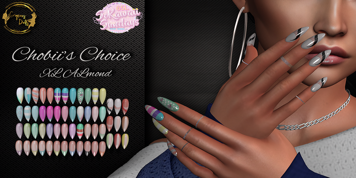 Gorgeous Dolls - Chobii's Choice XL Almond Nails