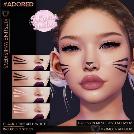 #ADORED - Kitsune Whiskers