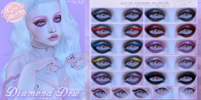 Mewsery Diamond Dew Eyeshadows