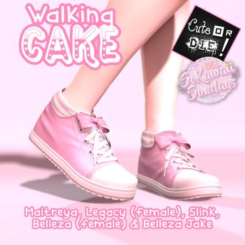 Cute or Die - Walking Cake Sneakers