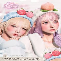 kotte - peach & strawberry headband (sti