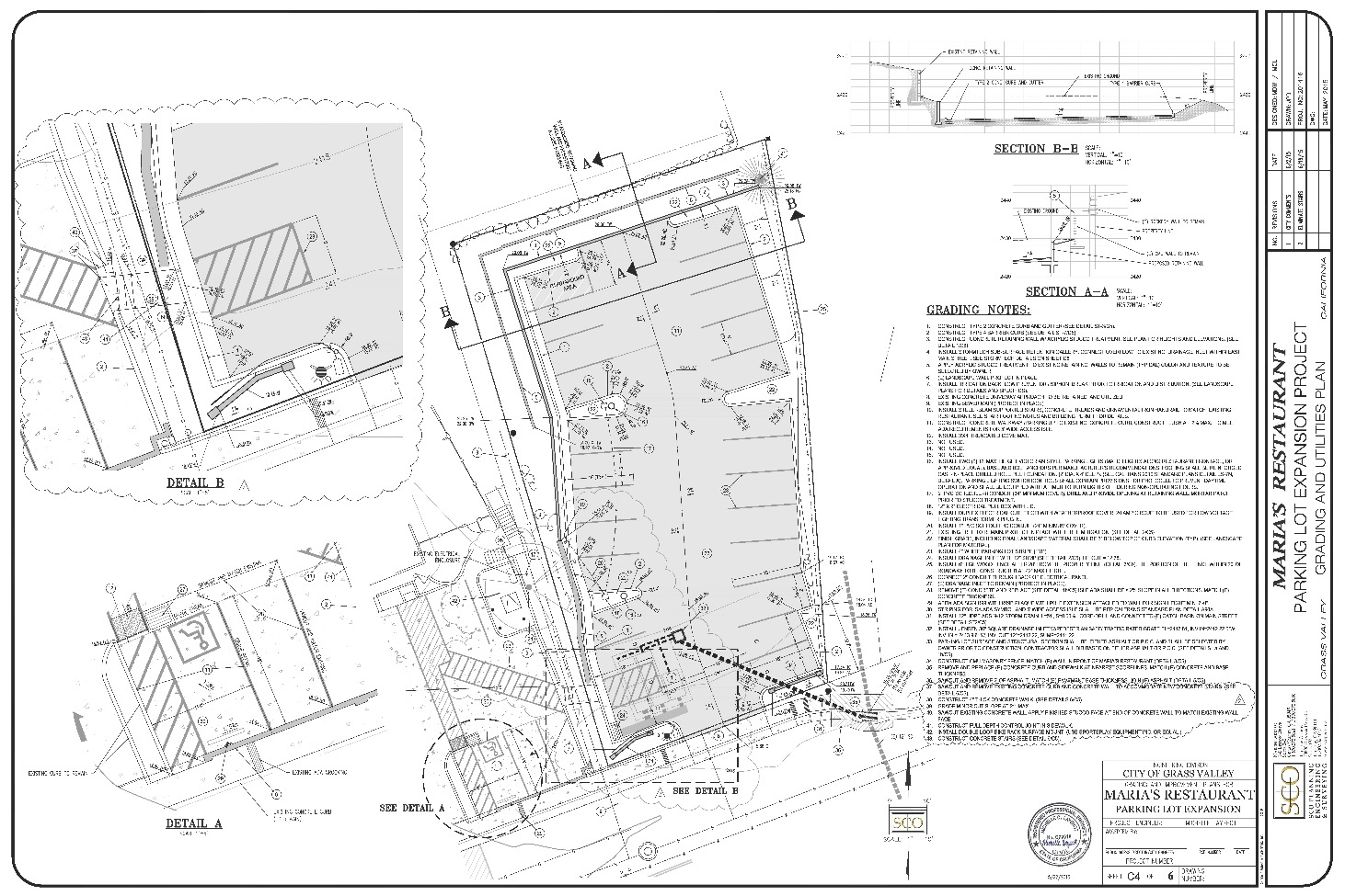 Maria's Parking Lot Plan Sheet