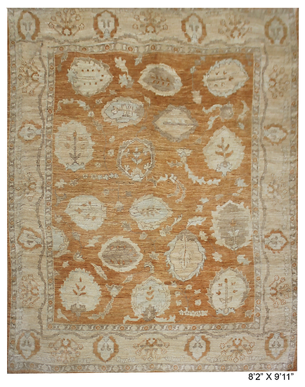 """Hand Knotted Fine Oushak Rug  - 8'2"""" X 9'11"""""""