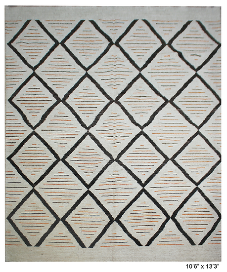 """Hand Knotted Navajo Rug  10'6"""" X 13'3"""""""