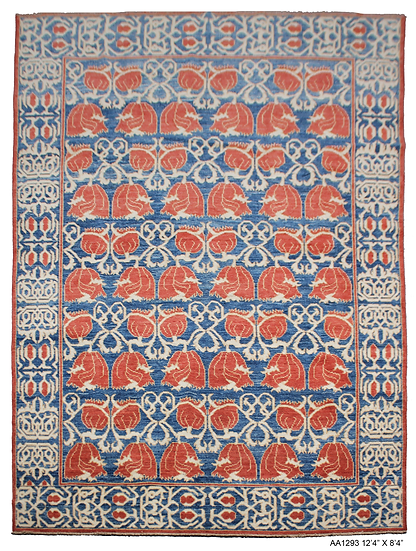 """Hand Knotted Oushak Rug - 8'4"""" X 12'4"""""""