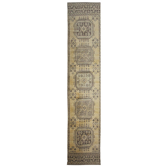 """Hand Knotted Vintage Oushak Rug. 3' x 11'3"""""""
