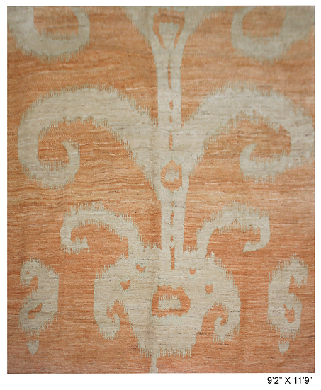 """Hand Knotted Ikat Rug - 9'2"""" x 11'9"""""""