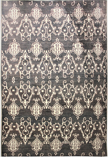 "Hand Knotted Ikat Rug - 9'10"" x 14'1"""