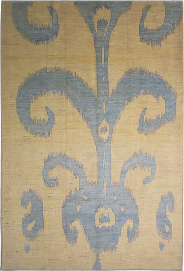 Hand Knotted Ikat Rug - 10′0″ × 14′0″