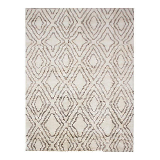"Hand Knotted Navajo Rug - 9'9"" x 13'3"""