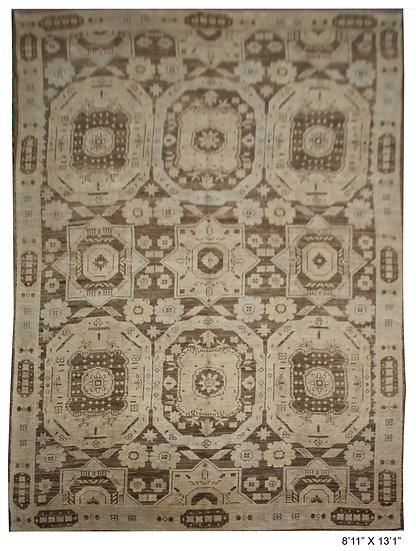 """Hand Knotted Fine Oushak Rug  - 8'11"""" X 13'1"""""""
