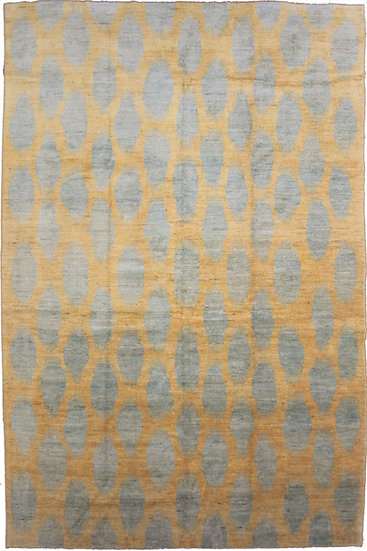 Hand Knotted Ikat Rug - 10′5″ × 13′11″