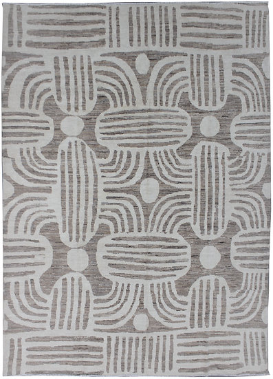 """Hand Knotted Ikat Rug - 8'5"""" x 9'9"""""""