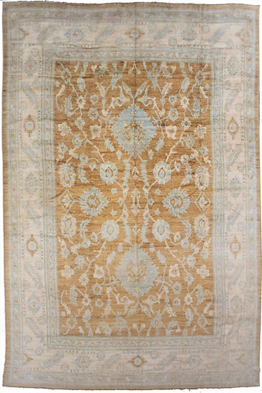 Hand Knotted Fine Oushak Rug - 12′8″ × 15′10″