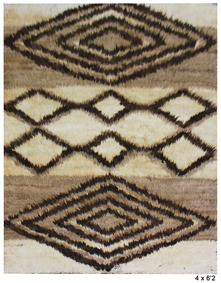 """Hand Knotted Navajo Rug  - 4'0"""" X 6'2"""""""