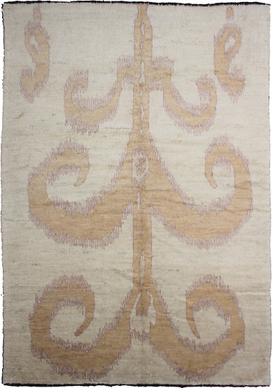 "Hand Knotted Ikat Rug - 7'9"" X 10'6"""