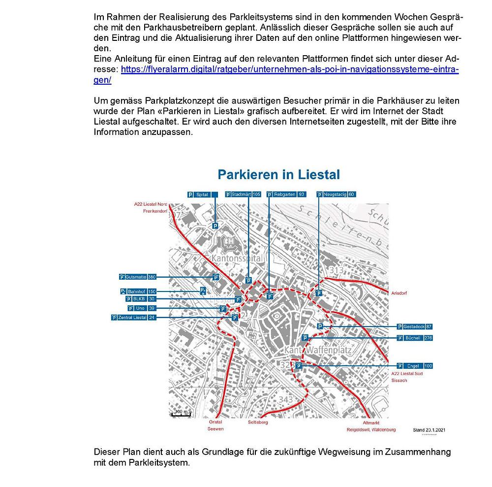 """Kleine Anfrage """"Parkhäuser online finden"""" von Domenic Schneider der glp, S.3"""
