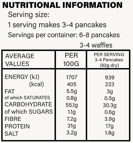 GF Strawberry Protein Pancake + Waffle Mix